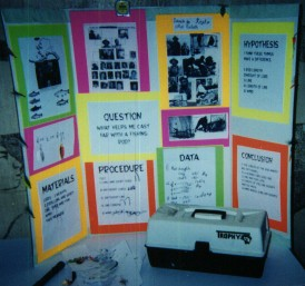 Pictures of past science fair projects for Fishing science fair projects