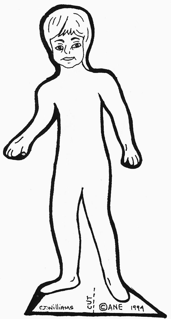 paper doll outline template contegri com